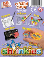 Shrinkles Shrinkers Classroom Pack - 50 Blank Sheets - Crystal Clear